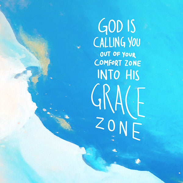 God is calling you into his grace zone. Sea and sky theme background