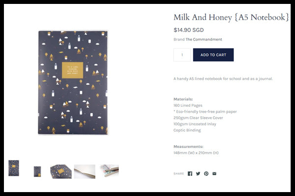 Milk and Honey A5 Notebook. Best notebook ever. Perfect for journaling and writing with cute designs.