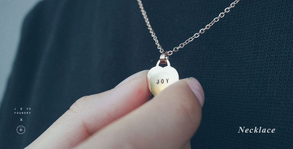 Customise a little message heart pendant necklace by j & co foundry