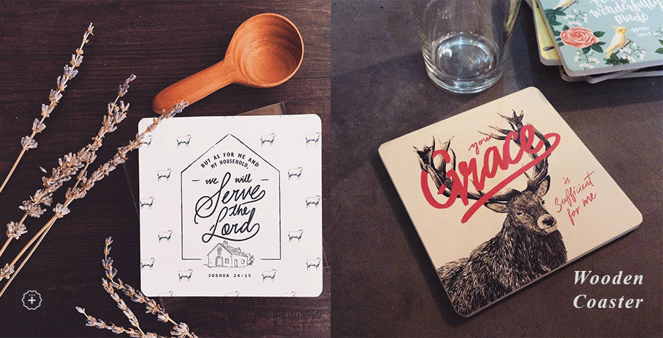 Inspirational bible verse coasters for home deco singapore