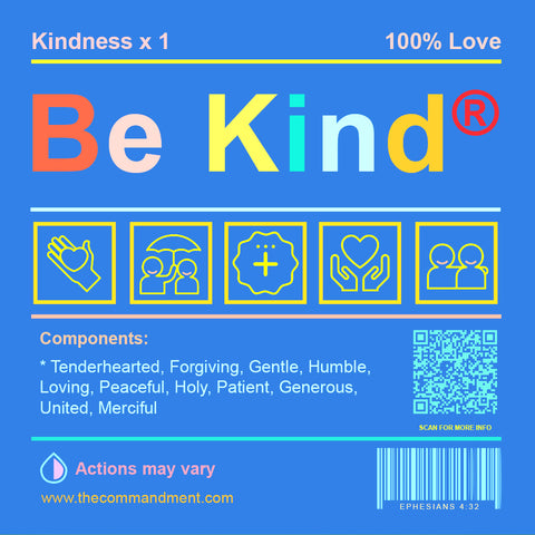 Be Kind short sermon by Singapore Christian gifts store The Commandment Co