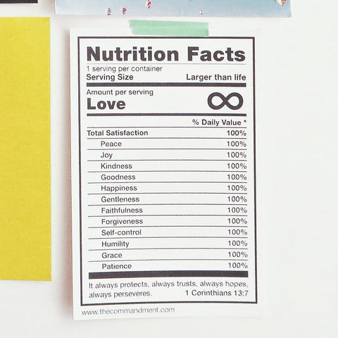 Breakfast Nutrition Facts  - Encouraging short sermons and devotionals compiled by The Commandment Co