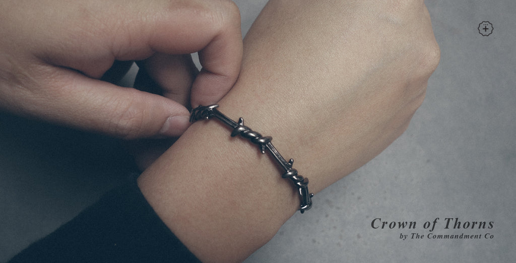 Crown of thorns bracelet contemporary Christian jewelry by The Commandment Co