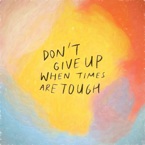 Don't Give Up When Times Are Tough - Encouraging short sermons and devotionals compiled by The Commandment Co