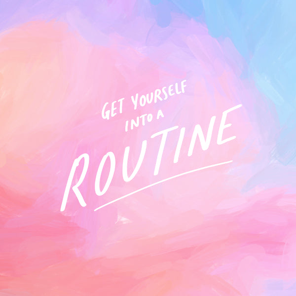 Get into a routine. Christian bible verse wallpaper.