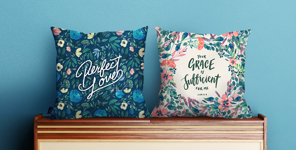 Christmas edition cushion covers by the commandment co