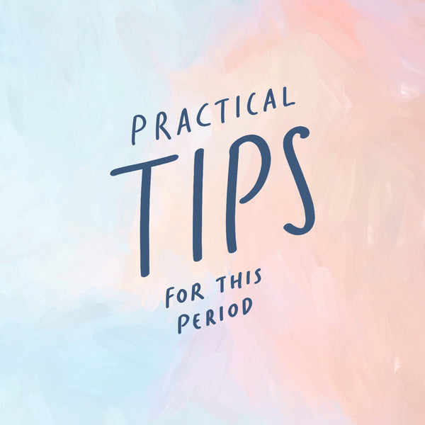 Practical tips we can do during these kinds of period. Beautiful watercolour wallpaper design.