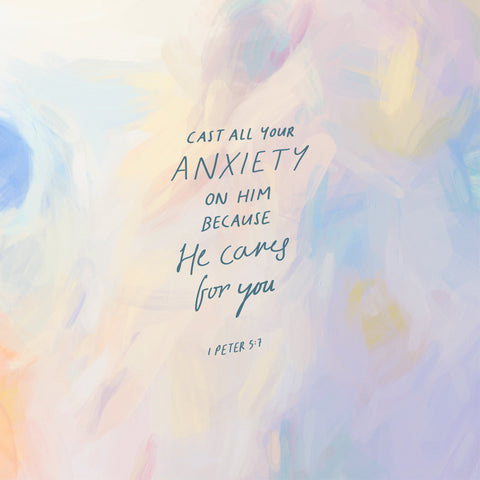 Cast all your anxiety on Him because He cares for you ~ 1 Peter 5:7 - Moving devotionals from The Commandment Co's Short Sermon Series