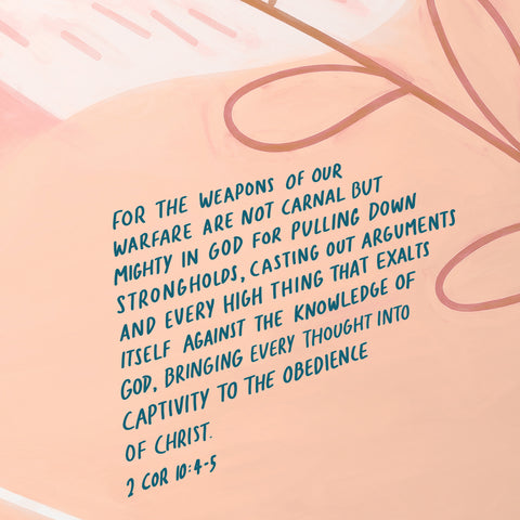 For the weapons of our warfare are not carnal but mighty in God for pulling down strongholds, casting out arguments and every high thing that exalts itself against the knowledge of God, bringing every thought into captivity to the obedience of Christ ~ 2 Corinthians 10:4-5 - Moving and encouraging short sermon series by The Commandment Co