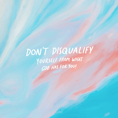 Don't disqualify yourself from what God has for you! ~ A moving and motivational short sermon series by The Commandment Co: Faith does not make it easy, faith makes it possible!