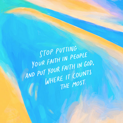 Stop putting your faith in people and put your faith in God, where it counts the most - A relationship with God is always the same: Short Sermon Series by The Commandment Co
