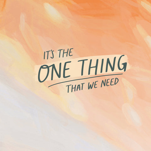 It's the one thing that we need - Short sermon series by The Commandment Co