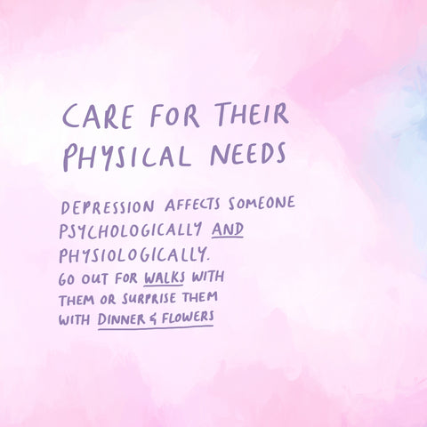 Caring for your depressed friend's physical needs - Encouraging devotionals from The Commandment Co's Short Sermon Series