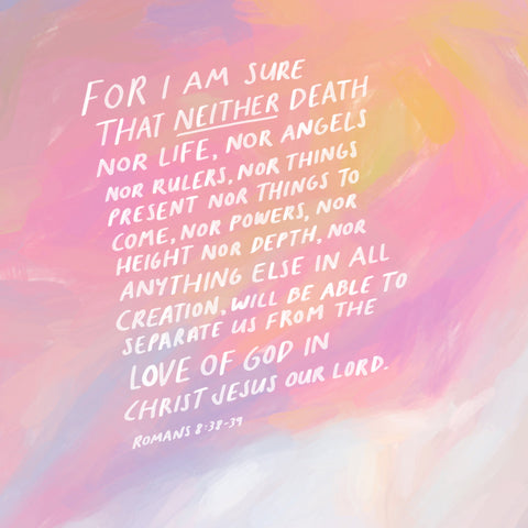 For I am sure that neither death nor life nor anything else is all creation will be able to separate us from the love of God in Christ Jesus our Lord ~ Romans 8:38-39 - Short Sermon Series by The Commandment Co : Finding identity in mental illness
