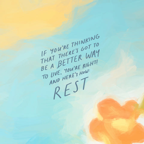 If you're thinking that there's got to be a better way to live, you're right! And here's how: REST - Short Sermon Series: To the young adult : by The Commandment Co