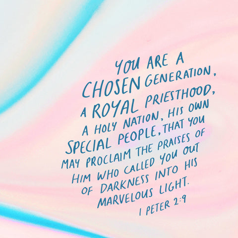You are a chosen generation, a royal priesthood, a holy nation, His own special people, that you may proclaim the praises of Him who called you out of darkness into His marvelous light ~ 1 Peter 2:9 - Encouraging short sermons and devotionals compiled by The Commandment Co