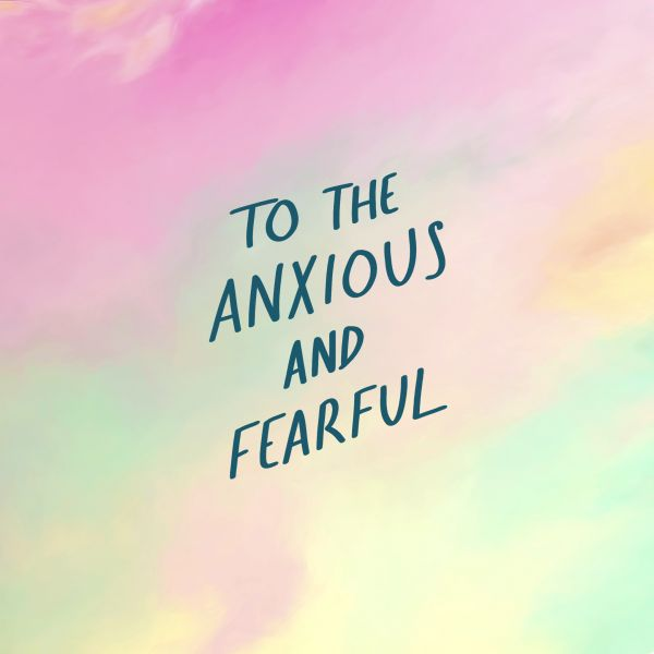 Watercolour background, Christian themed wallpaper for those who are anxious and fearful