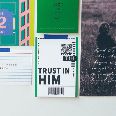 Trust in Him Motivational Wall Display Card