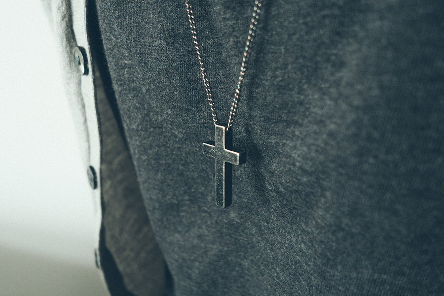 Gunmetal Cross Necklace Father's Day Special