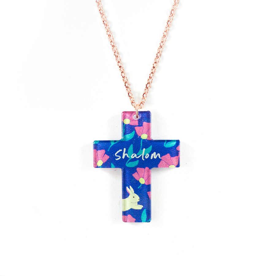 Shalom {Cross Necklace}