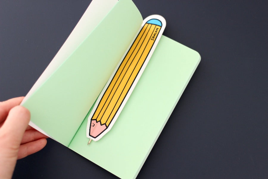 The bookmark pen will help you mark the pages you are at