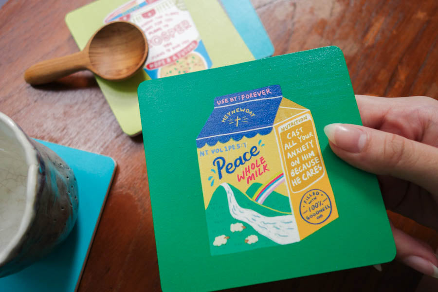 Peace Whole Milk | Coasters {LOVE SUPERMARKET}