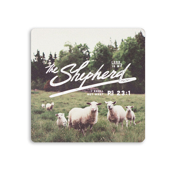 Coaster with inspirational verse The Lord is my Shepherd