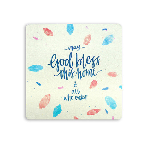 Coaster May God bless this home and all who enter | The Commandment Co
