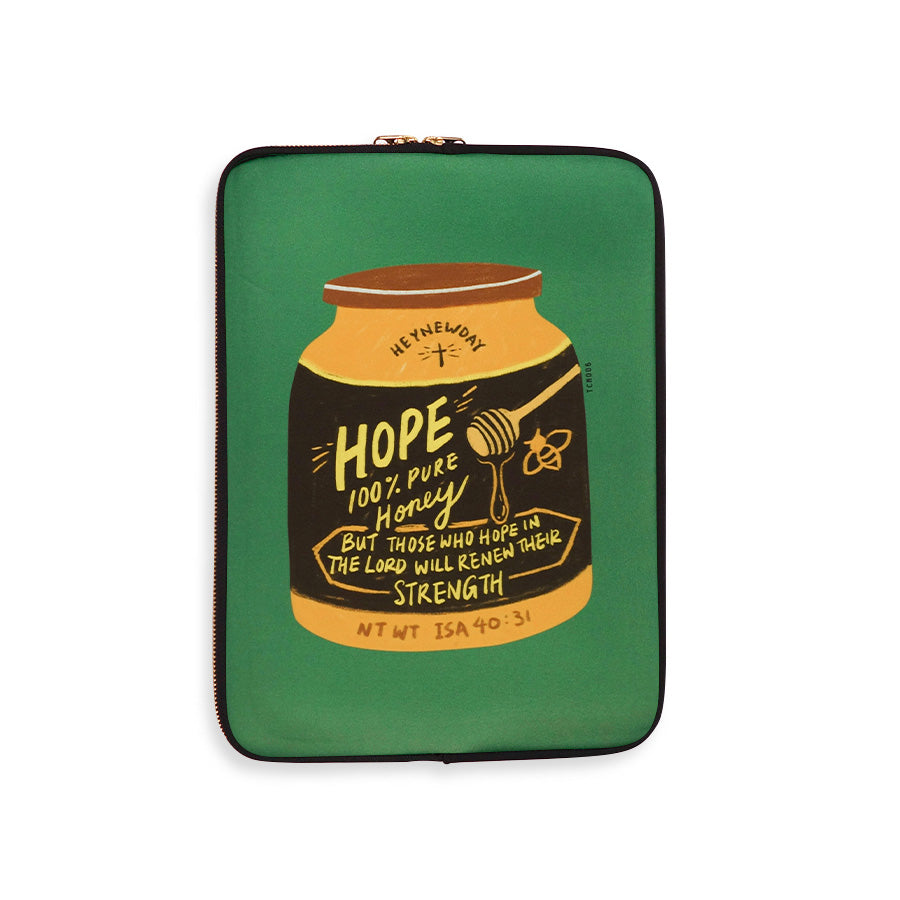 Those who hope in the Lord will renew their strength Isaiah 40:31 The Commandment Co Laptop Sleeve case