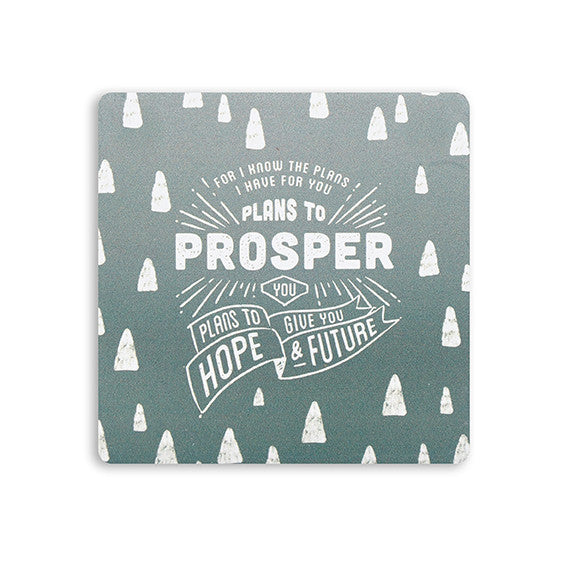 Bible verse gifts coaster For i know the plans i have for you plans to prosper you