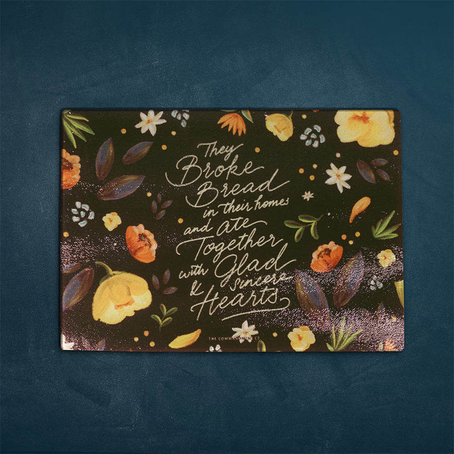 Eat Together With Glad And Sincere Hearts {Cutting Board}