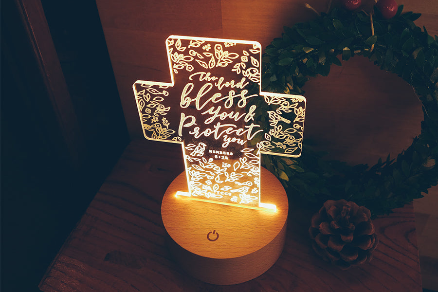 Night light makes your home feel much cozier. Creative Christian home decoration ideas.