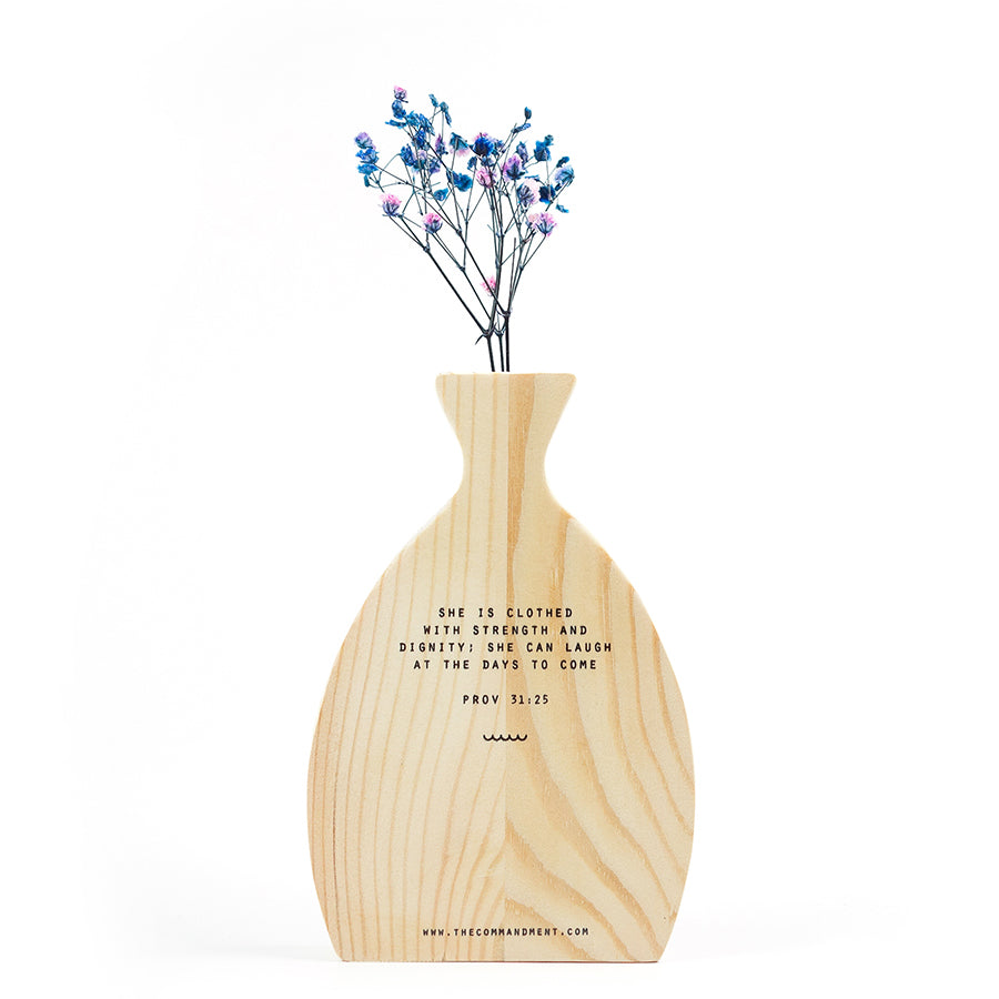 Strength & Dignity {Wooden Vase}
