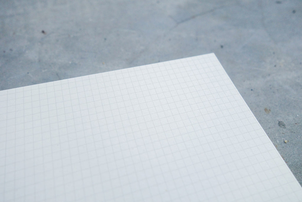 Grid page of notebook.