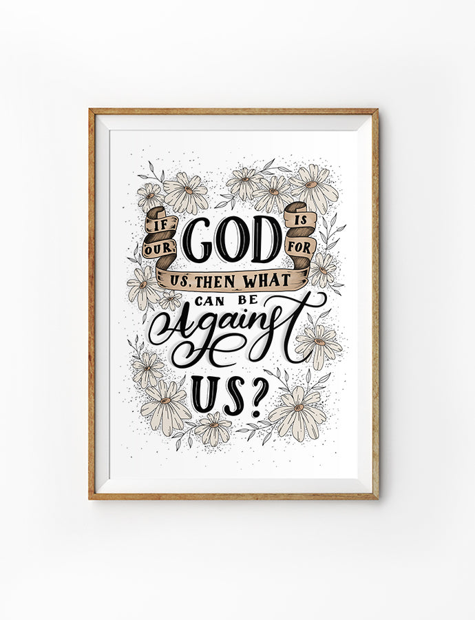 If Our God Is For Us {Poster}