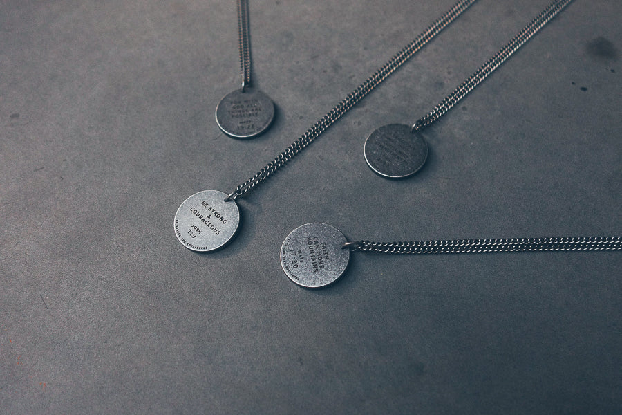 Assorted gunmetal round necklaces in all its variation