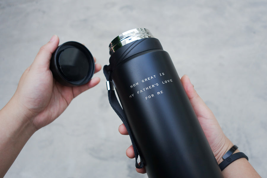Metal tumbler is a vacuum flask too so it will keep your drinks cool or warm for longer periods.