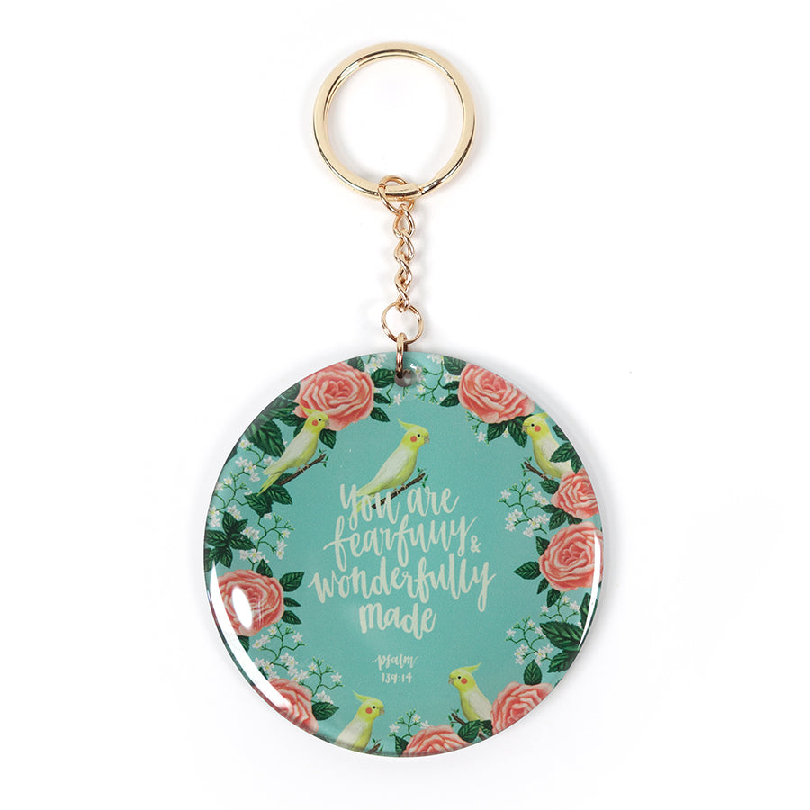 You are fearfully and wonderfully key ring daily inspiration gifts