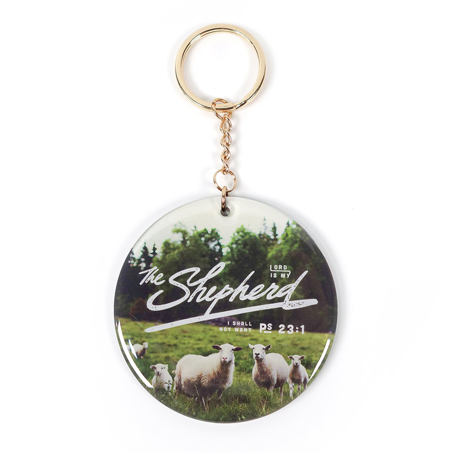 The Lord is my shepherd keychain and car charm 2 in 1