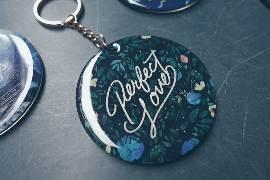 Perfect love keychain great Christian gifts for women