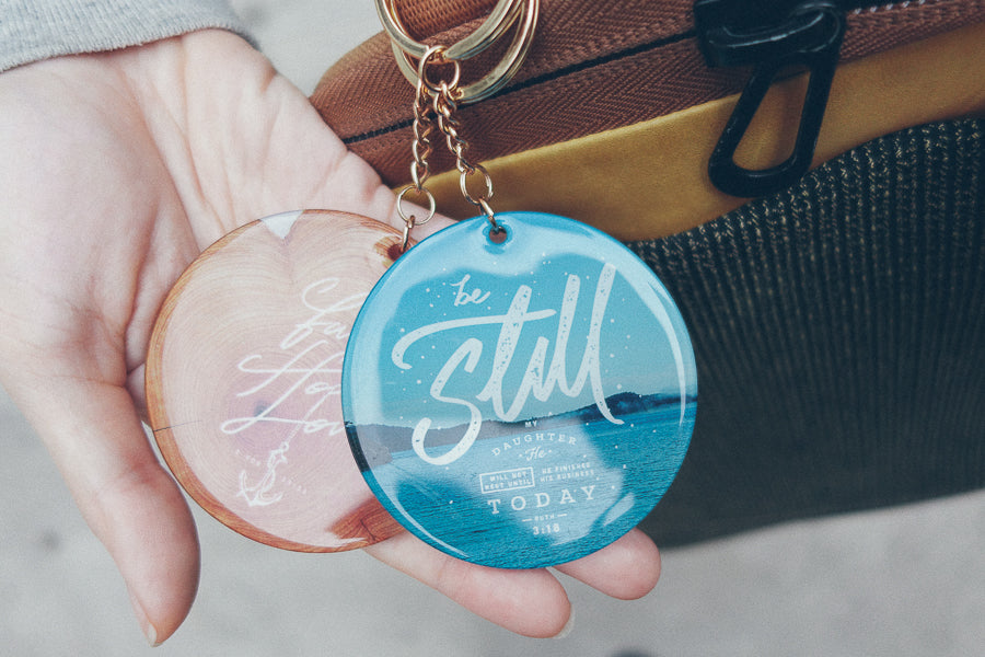 Be still gifts of faith design key ring
