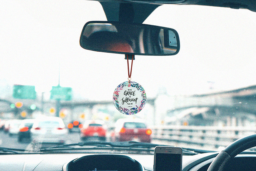 Car charm reminds us to stay calm throughout our day