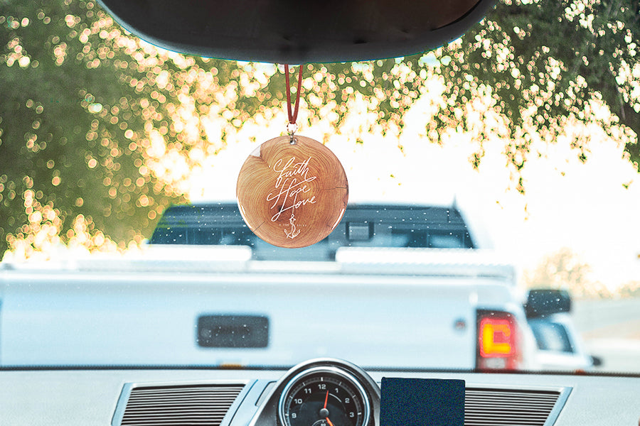 faith hope love car charm hung on cars. Car accessories.