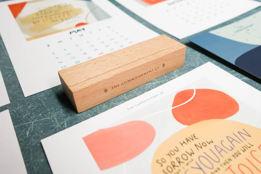 TCCo 2021 Desk Calendar with Wooden Stand