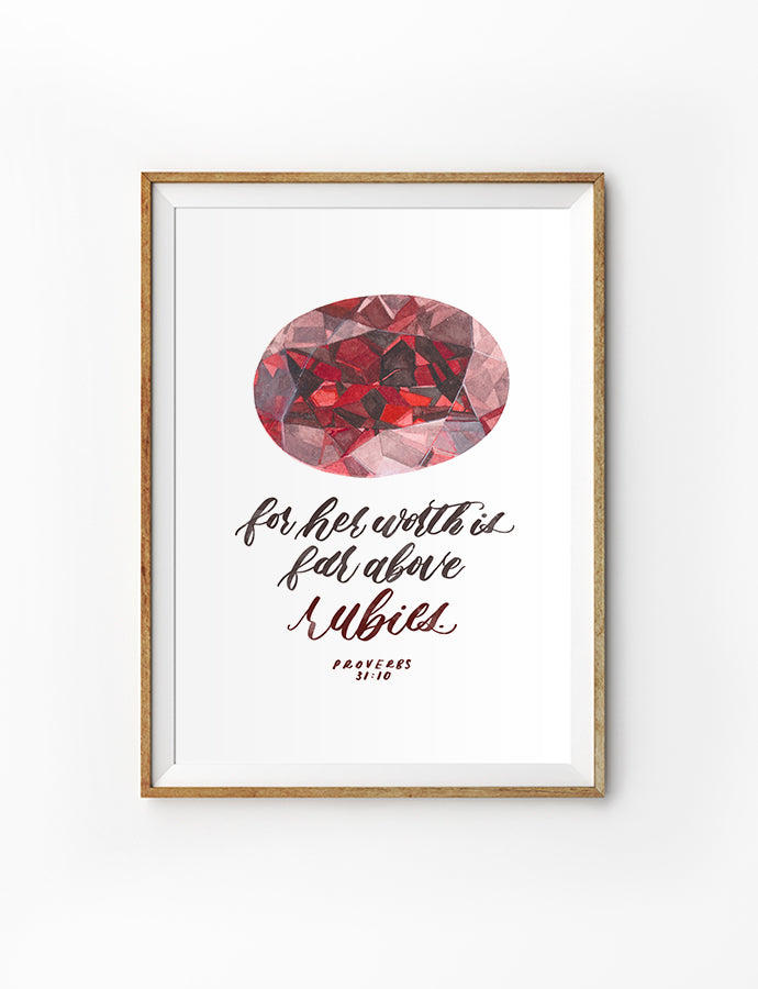 Worth Far Above Rubies {Poster}