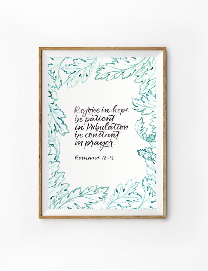 Rejoice In Hope {Poster}