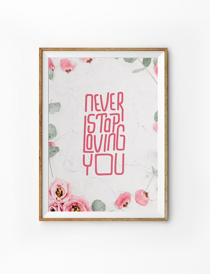 Never Stop Loving You {Poster}