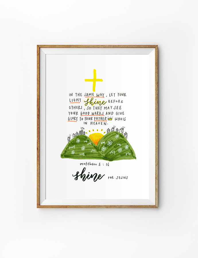 Shine For Jesus {Poster}