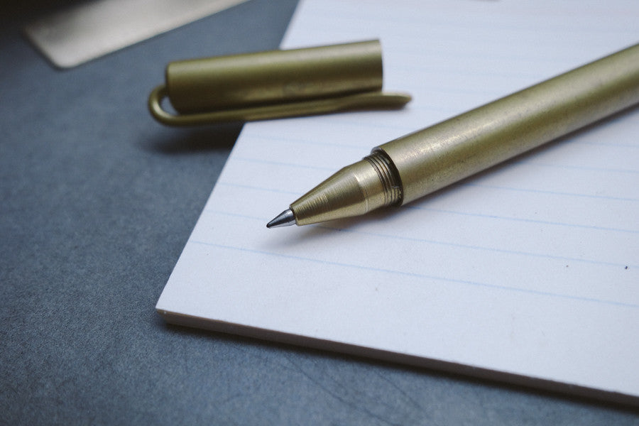 Ball point tip of the brass pen will allow for smooth writing