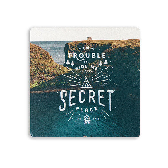 Modern Christian Gift Store Singapore Coasters Design | Hide me in your secrete place